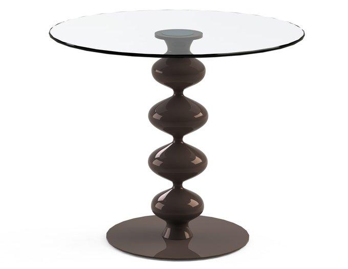 """Обеденный стол """"CRIADOR Choco"""" со столешницей из закаленного стекла"""