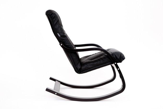 Кресло качалка Эйр New с черным каркасом
