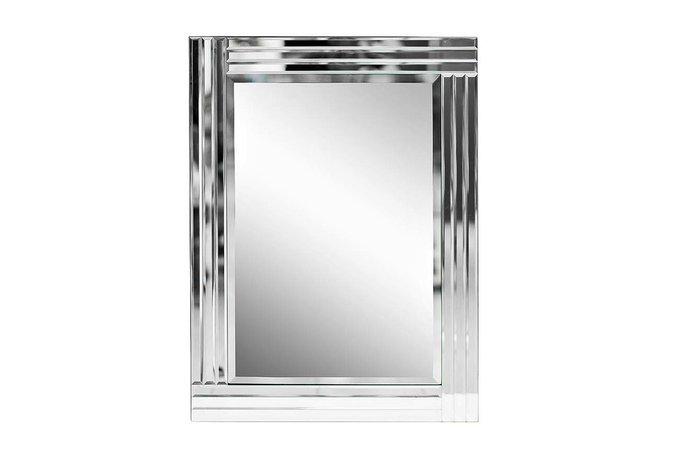 Декоративное настенное зеркало в стеклянной раме