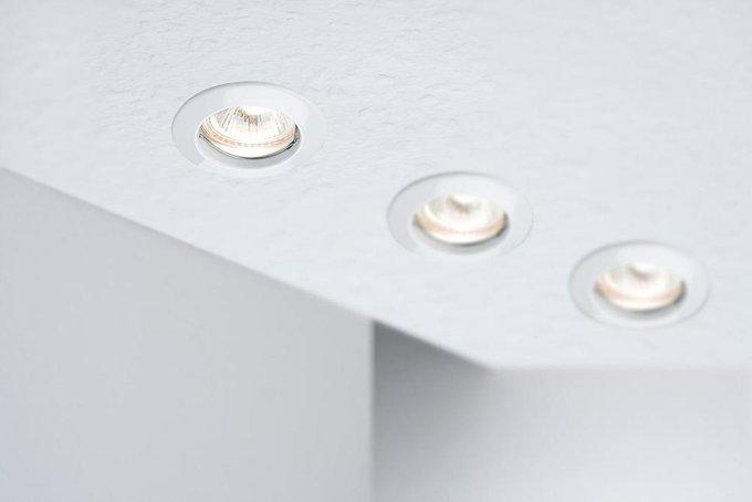 Встраиваемый светильник Set белого цвета