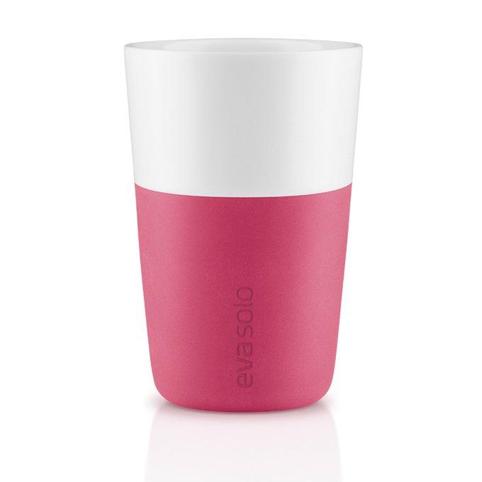 Набор из двух чашек для латте бело-розового цвета