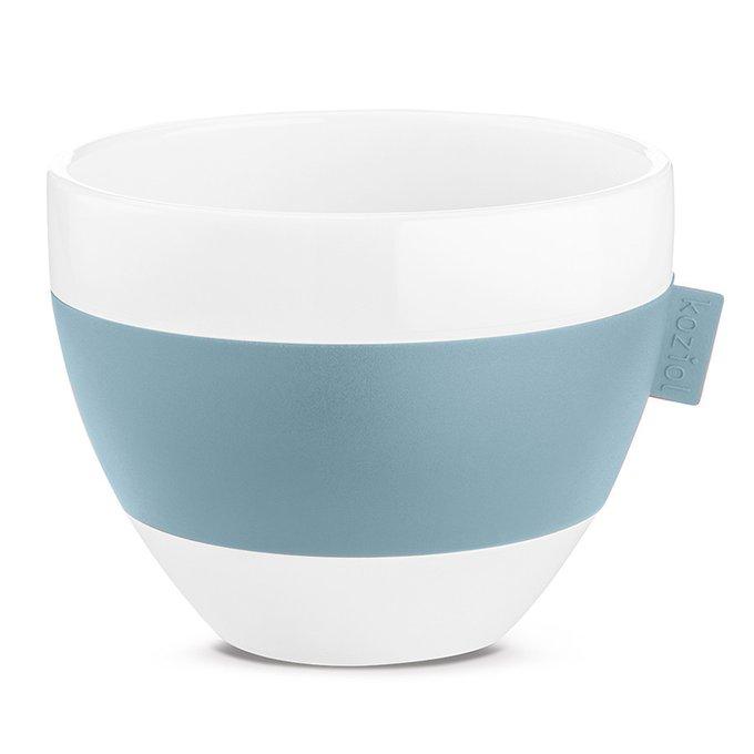 Чашка с термоэффектом Aroma бело-голубого цвета