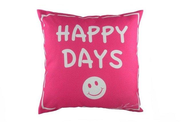 Подушка с надписью Happy Days
