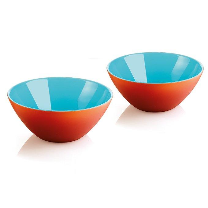 Набор из двух мисок My Fusion красно-голубого цвета