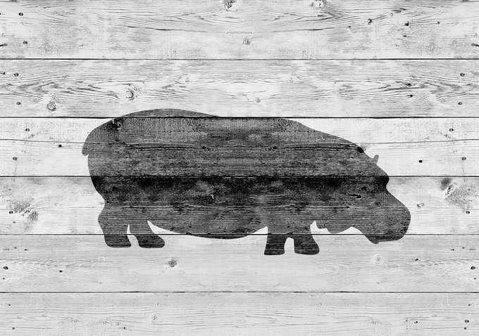 Картина (репродукция, постер): Бегемот