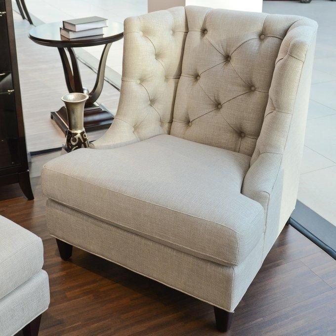 Кресло Mestre кремовая рогожка