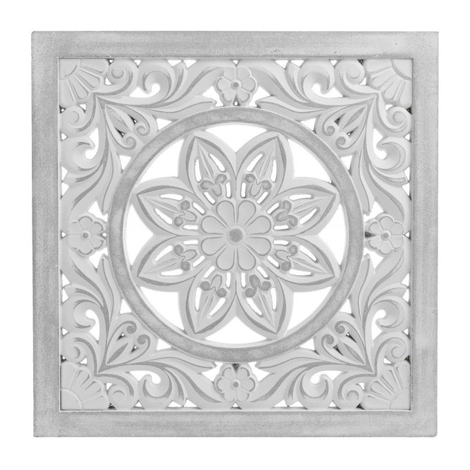 Декор настенный из дерева белого цвета