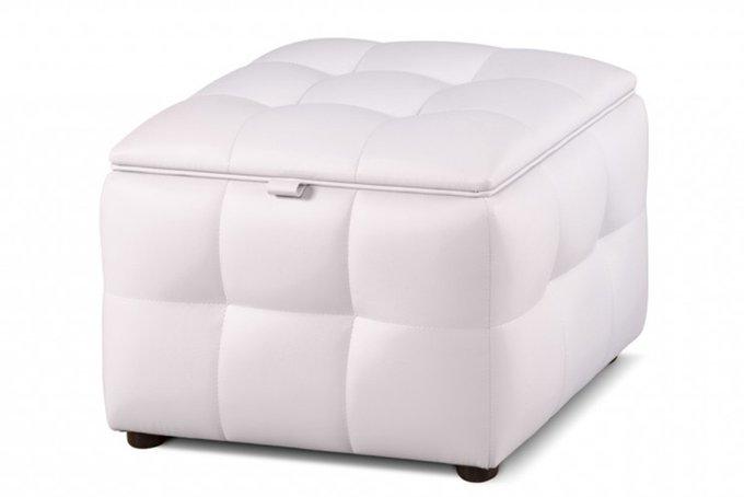 Пуф квадратный белого цвета