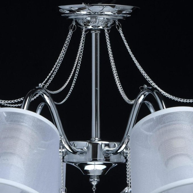 Потолочная люстра Лацио с белыми абажурами