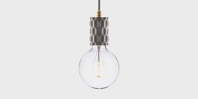 Подвесной светильник из бетона Beton Glitter gray