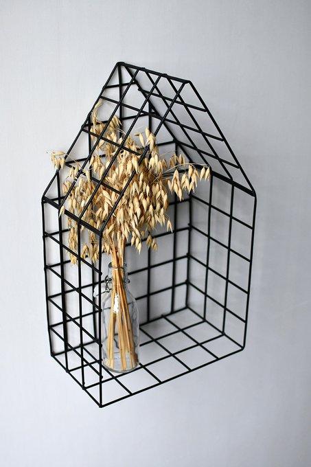 Полка-домик Black M из металла