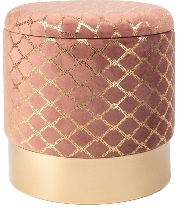 Пуф с крышкой розового цвета