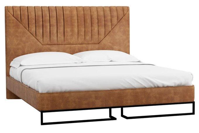 Кровать Loft Alberta Браун с подъемным механизмом и ящиком 140х200