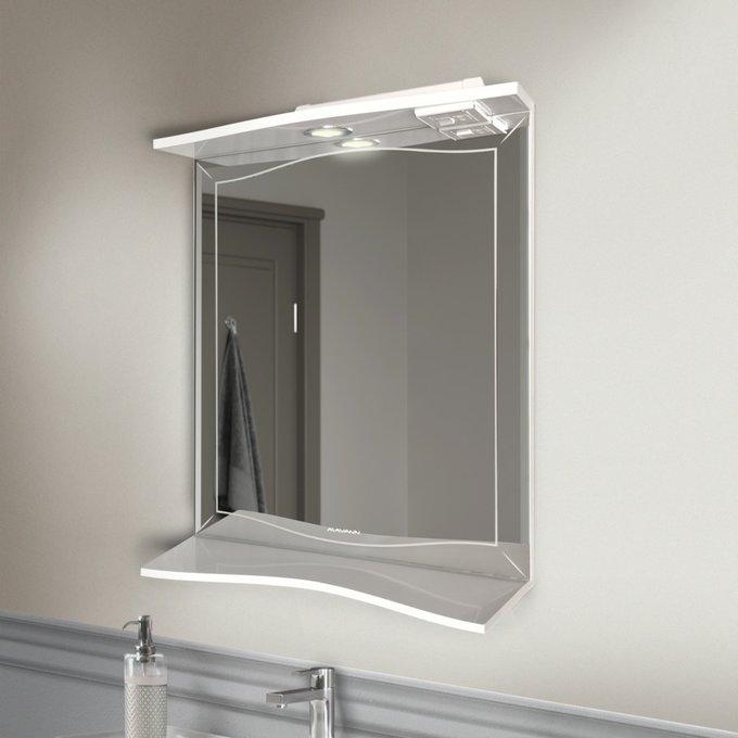 Настенное зеркало Monaco 60-01 с полкой и подсветкой