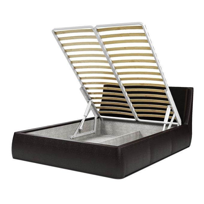 Кровать Гесиона 180х200 темно-коричневого цвета с подъемным механизмом