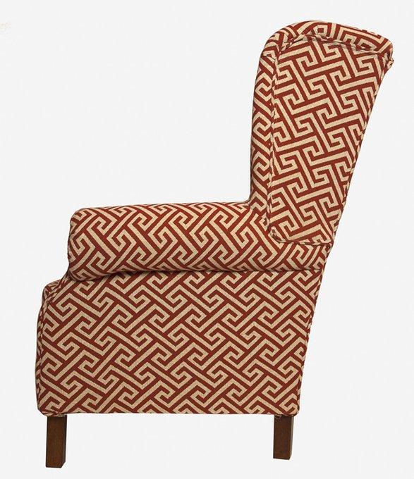 Кресло Лабиринт Версаче красно-бежевого цвета