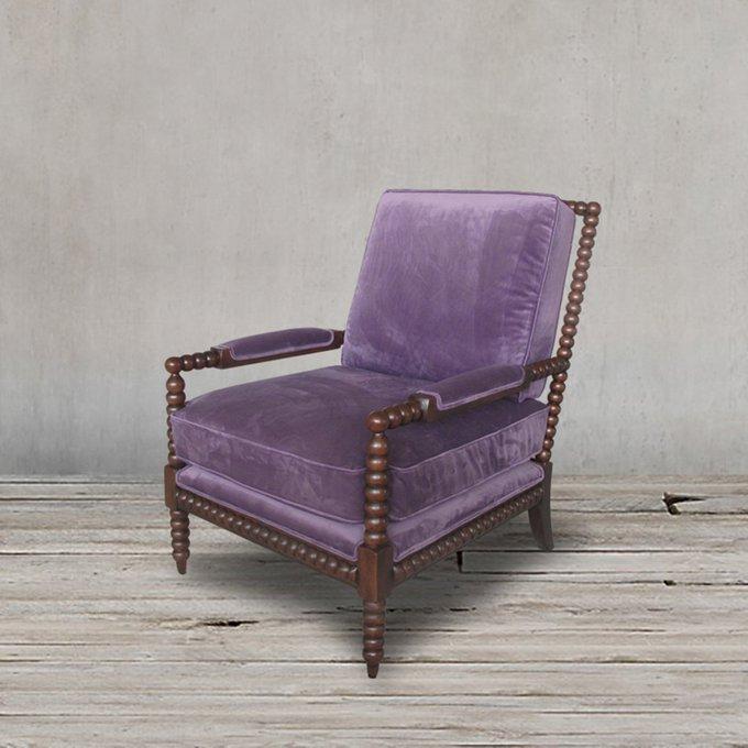 Кресло Сезар сиреневого цвета