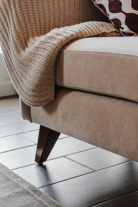 Прямой диван Rafael L бирюзового цвета