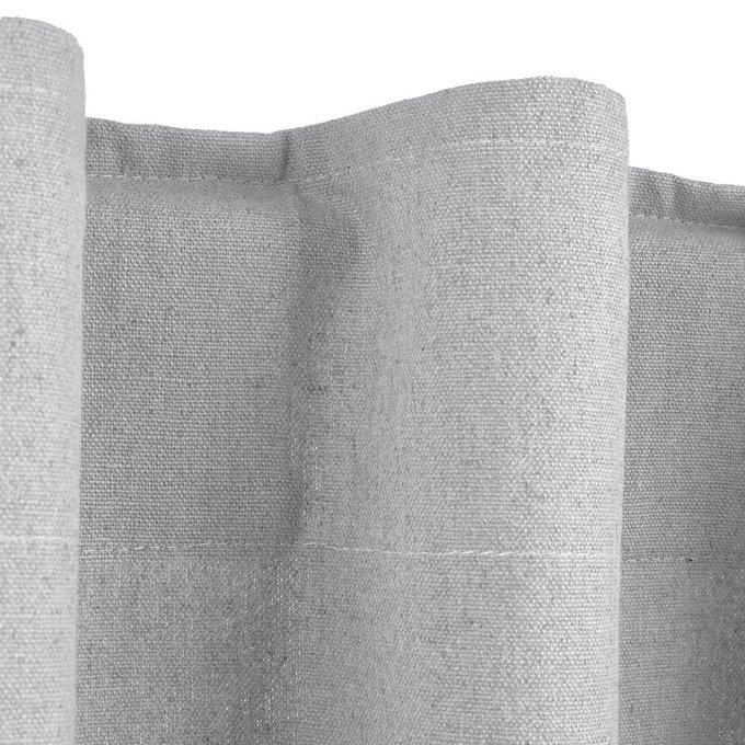 Штора Tama из льна и хлопка со скрытыми клапанами светло-серого цвета 220x145