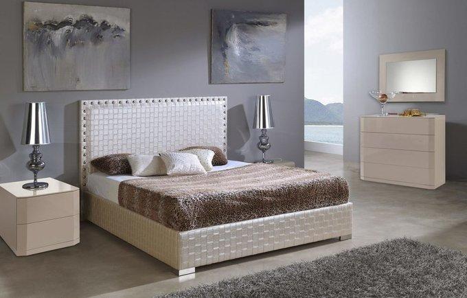 Кровать Dupen Manhattan с высоким изголовьем 160x200