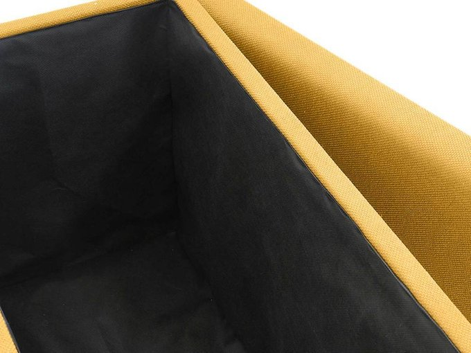 Пуф Craft горчичного цвета с ёмкостью для хранения