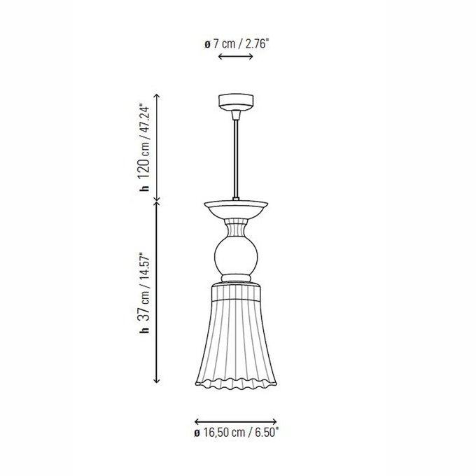 Подвесной светильник Bover TWINS с плафоном  из прозрачного стекла