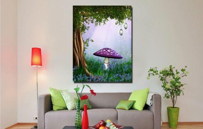 Дизайнерская картина на холсте: Сказочная поляна