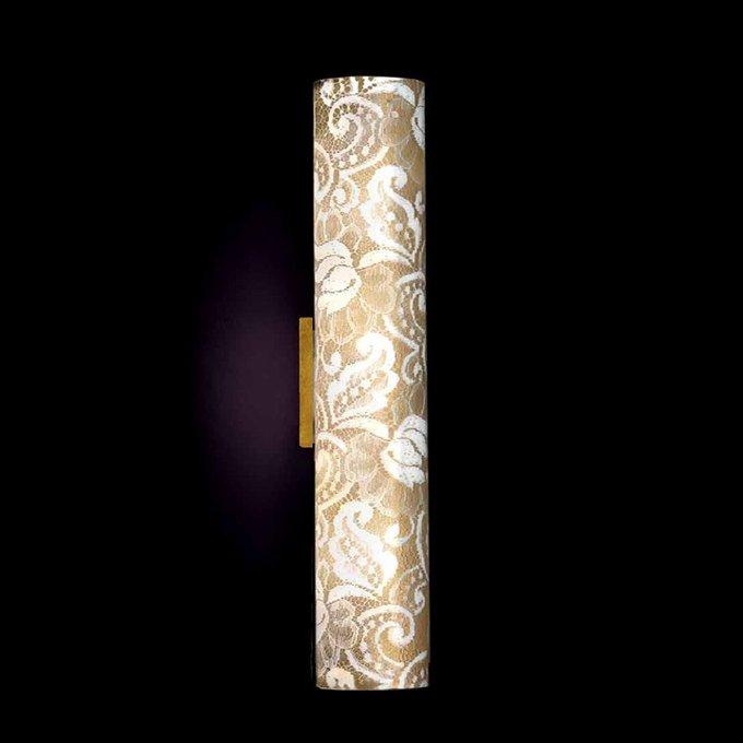 """Настенный/Потолочный светильник Lamp di Volpato Patrizia """"Pizzo"""" с плафоном из металла и ткани"""