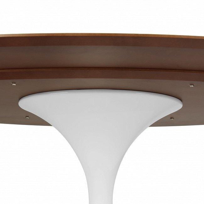 Стол обеденный овальный на алюминиевой ножке