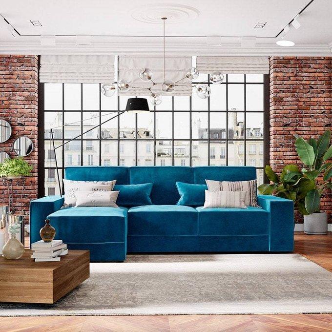 Угловой диван-кровать Модесто красного цвета