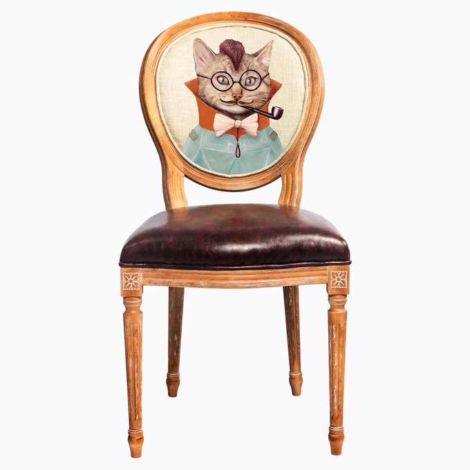 Стул Мистер Шерлок с сиденьем и спинкой из экокожи