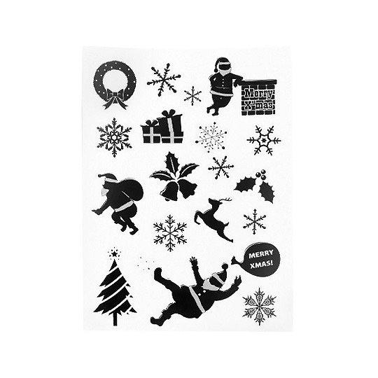 Наклейки 'Santa' (разные дизайны) / Merri X-mas