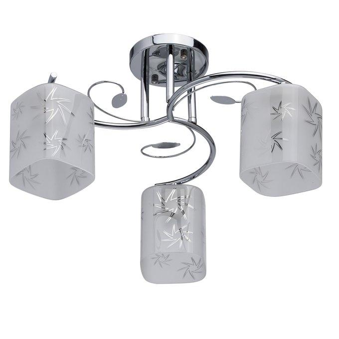 Потолочная люстра Тетро с плафонами из стекла