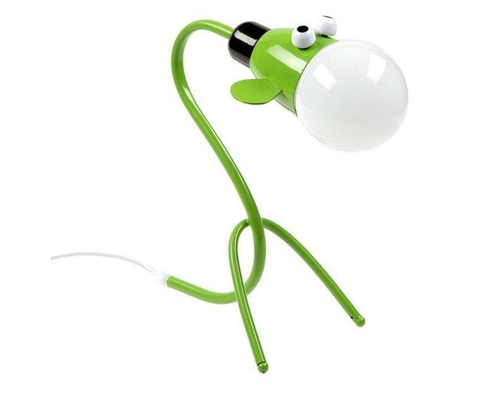 Настольная лампа Иа зеленого цвета