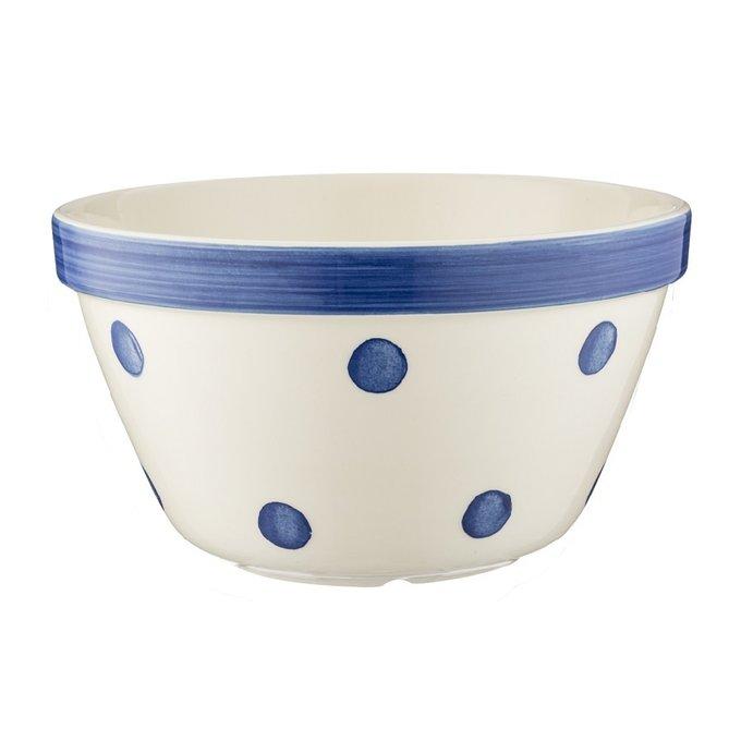 Керамическая универсальная миска Spots синяя