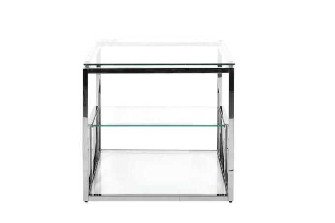 Журнальный сталь из стекла и стали цвета хром