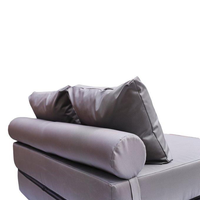 Диван-кровать с валиком и двумя подушками