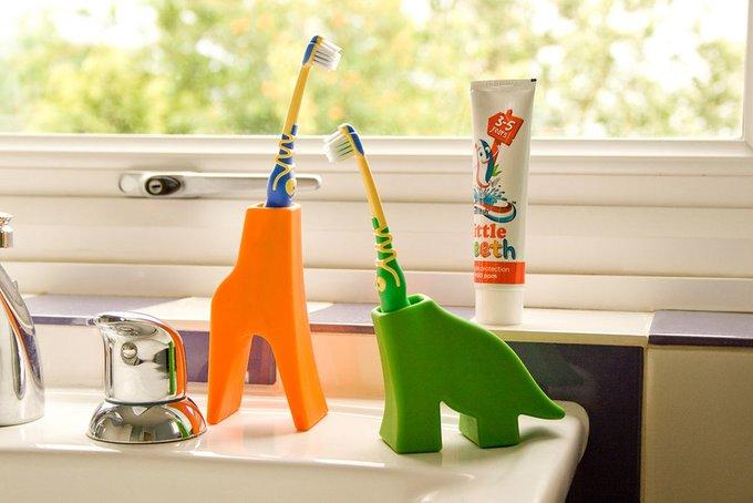 Держатель для зубной щетки J-me dinosaur зеленый