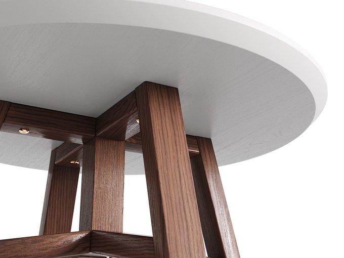 Журнальный стол Mack дуб тобакко / серый шёлк