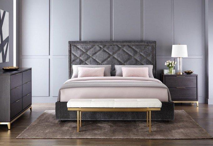 Кровать Stein с каркасом и ножками из дуба 160х200