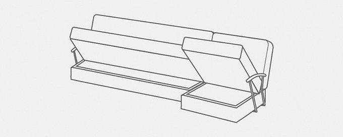 Угловой диван-кровать Дудинка Letizia серого цвета