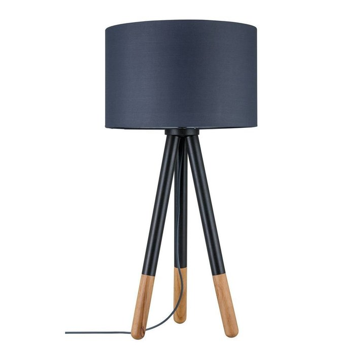 Настольная лампа Paulmann Rurik с черным абажуром