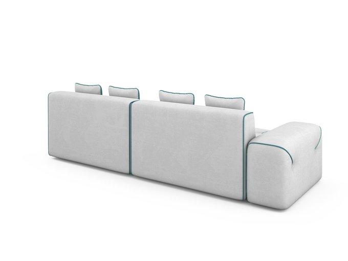 Угловой Диван-кровать Portu правый светло-серого цвета