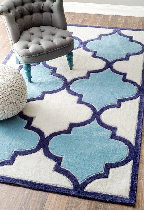 Ковер RUGSBE Marrakech white blue 300х500 см
