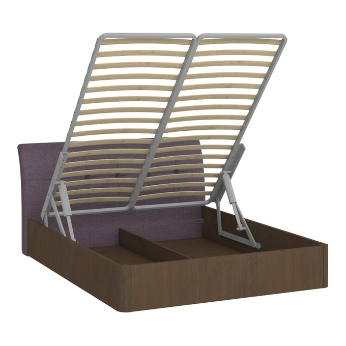 Кровать Сиена 160х200 с сиреневым изголовьем и подъемным механизмом