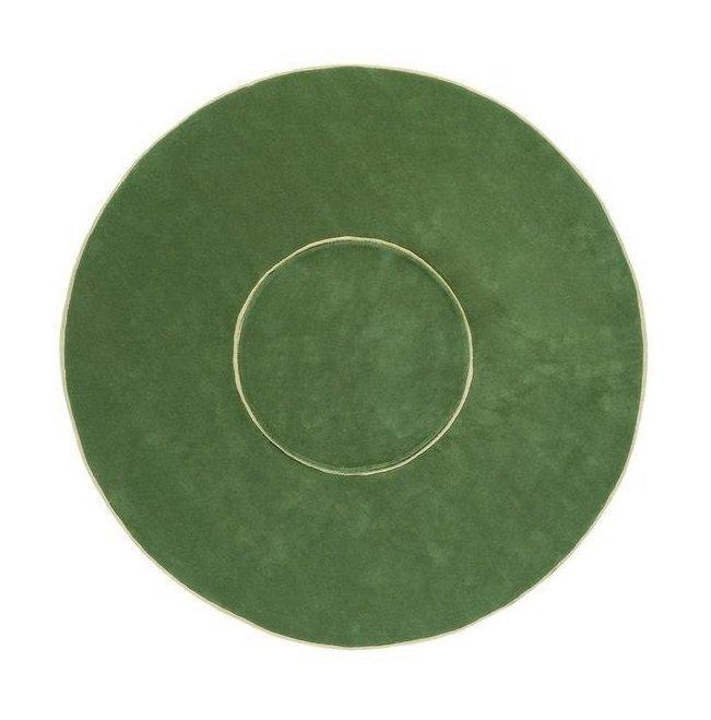 Круглый ковер Ring зеленого цвета 250 см