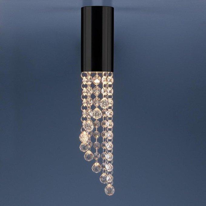 Потолочный светильник с хрустальными подвесками