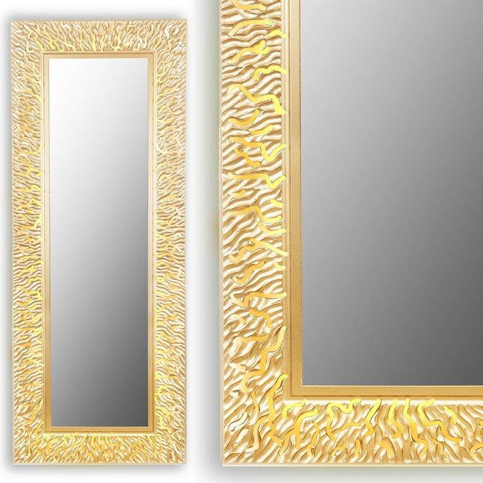 Настенное зеркало CORAL L gold