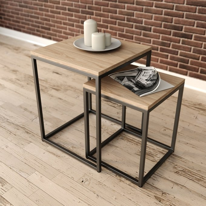 Кофейный стол Аделай натурального цвета