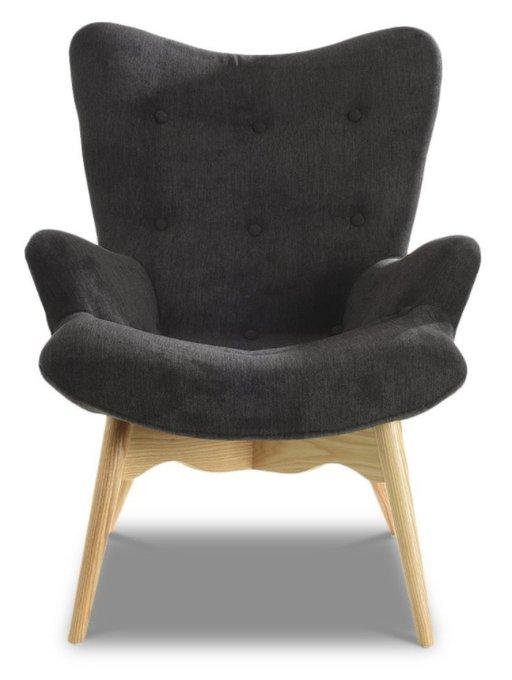 Кресло с обивкой из ткани графитового цвета